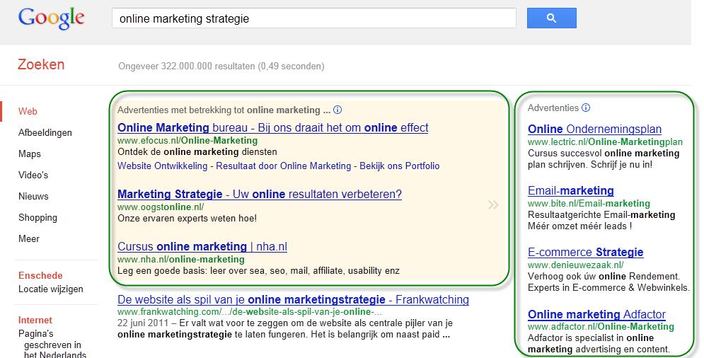 Succesvolle online marketing: Google AdWords