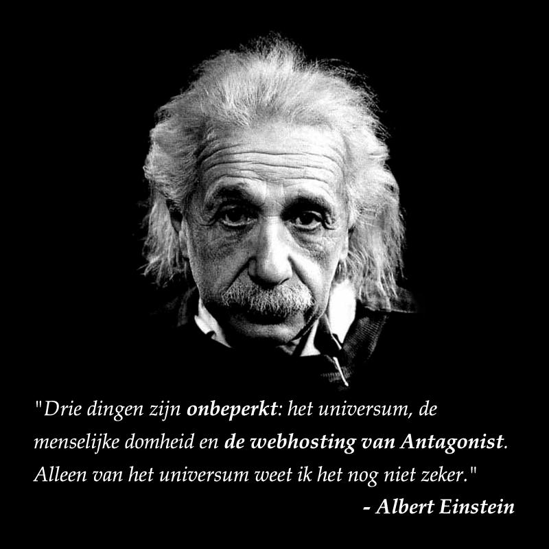 Onbeperkte webhosting: Albert Einstein