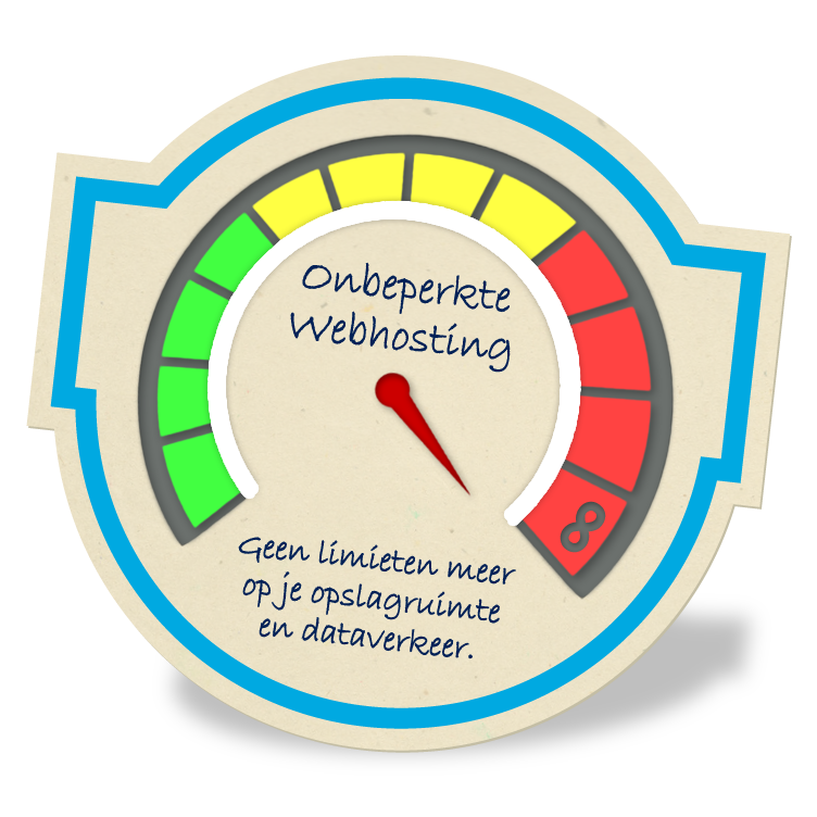 Onbeperkte webhosting: speedometer unlimited