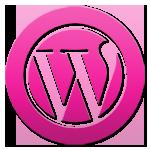 WordPress: Logo pink