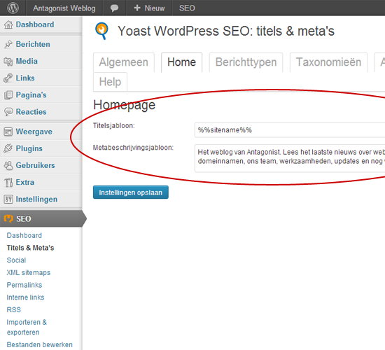 WordPress SEO Plugin Titels & Meta's Instellen