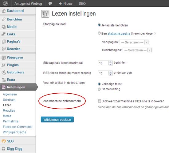 Zoekmachine Zichtbaarheid Voor WordPress