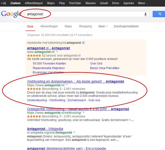 Zoekmachine: De zoekresultaten van Google