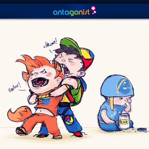 Fighting browser kids