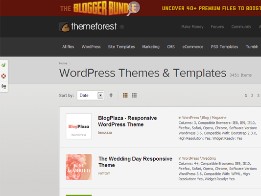 WordPress themes: ThemeForest