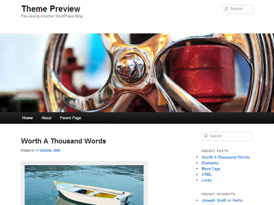 WordPress themes: Twenty Eleven