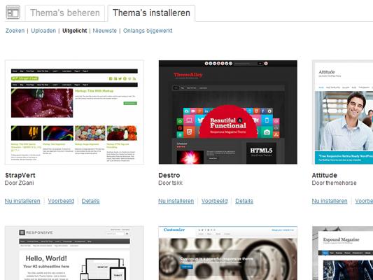WordPress themes: uitgelicht
