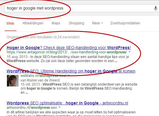 WordPress SEO tips: hoge zoekresultaten