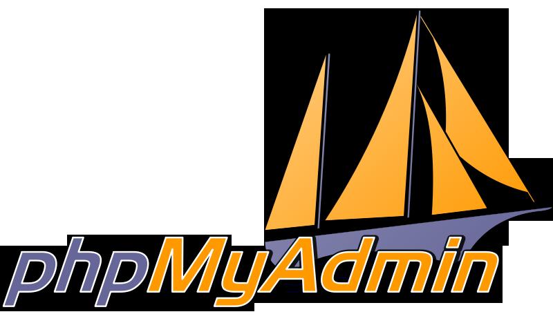 Systeembeheer: het logo van phpMyAdmin