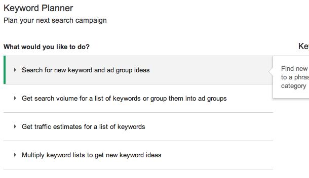 Webshop beginnen: termen onderzoeken met de AdWords KeyWord Planner