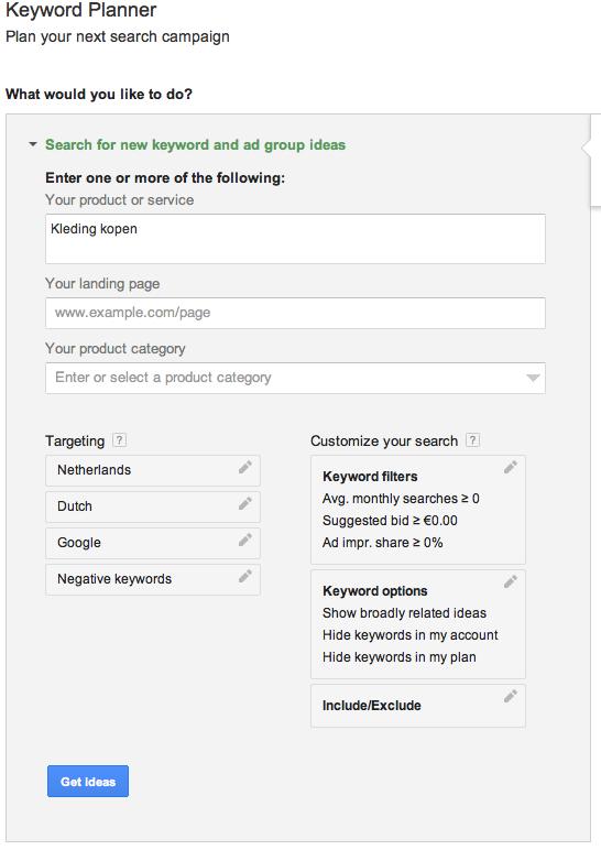 Webshop beginnen: zoeken naar termen