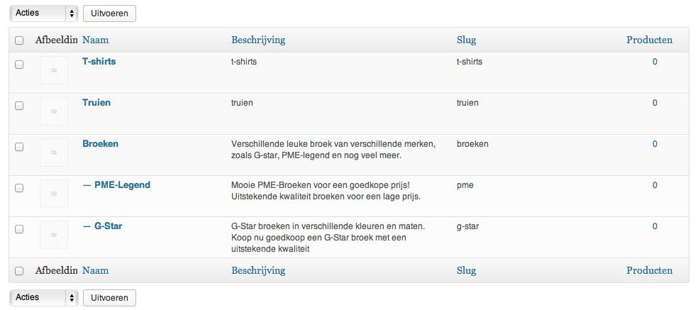 Webshop beginnen: WooCommerce indeling