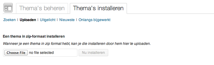 Webshop beginnen: thema installeren