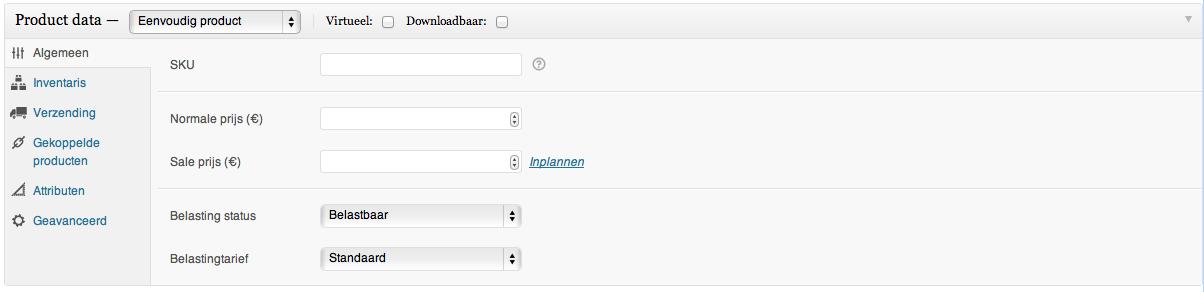 Webshop beginnen: instellen van een eenvoudig product