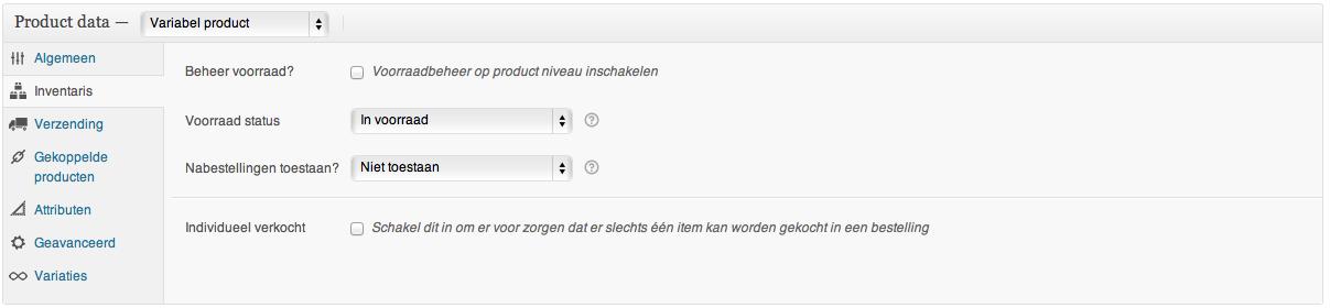 Webshop beginnen: het instellen van een variabel product