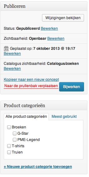 Webshop beginnen: publiceren en categorieën