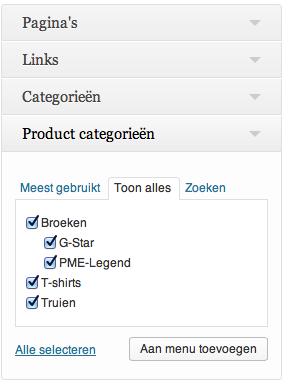 Webshop beginnen: productcategorieën