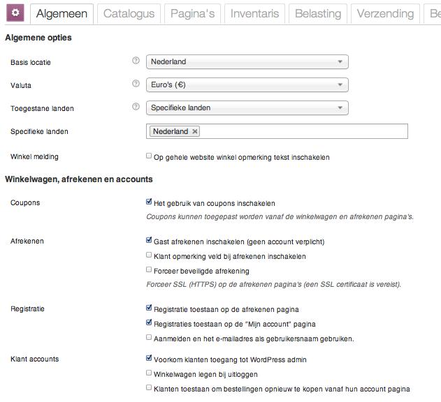 Webshop beginnen: de algemene instellingen voor WooCommerce