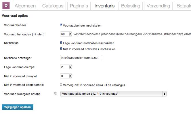 Webshop beginnen: inventaris WooCommerce