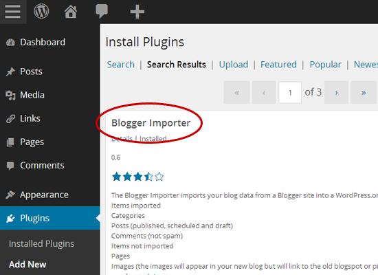 Van Blogger naar WordPress: Blogger Importer installeren