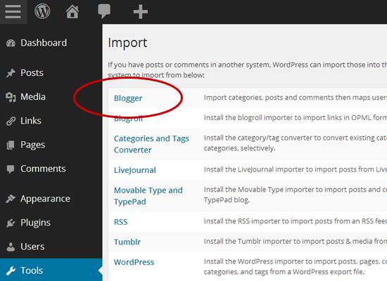 Van Blogger naar WordPress: Blogger importeren in WordPress