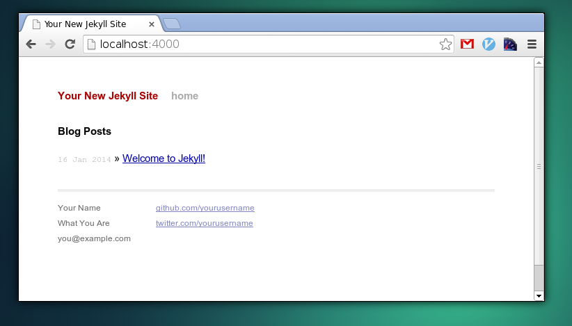 Een snelle website maken met Jekyll: nieuwe website met Jekyll