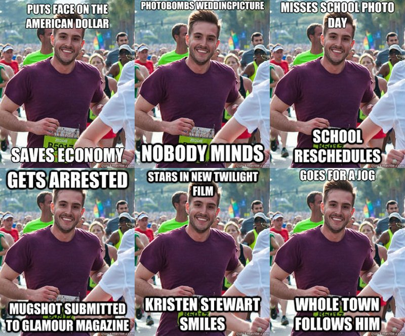 Meme: ridiculously photogenic guy