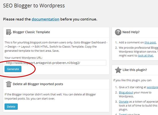 Van Blogger naar WordPress: redirection-script genereren