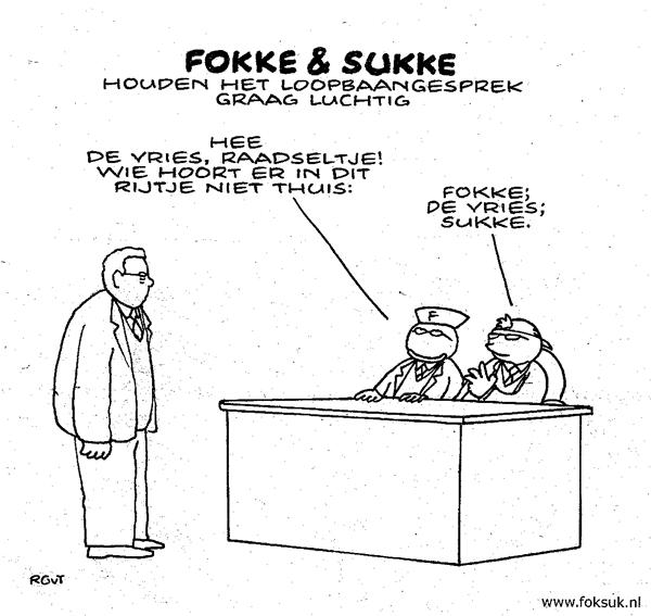 Beoordelingsgesprek: Fokke en Sukke over De Vries