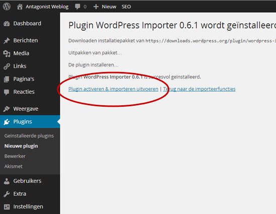 Van WordPress.com naar WordPress.org: plug-in activeren