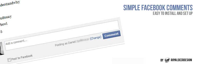 WordPress plugins: Simple Facebook Comments