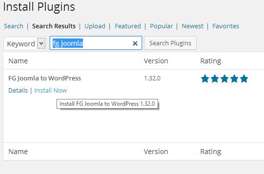 Van Joomla naar WordPress 02