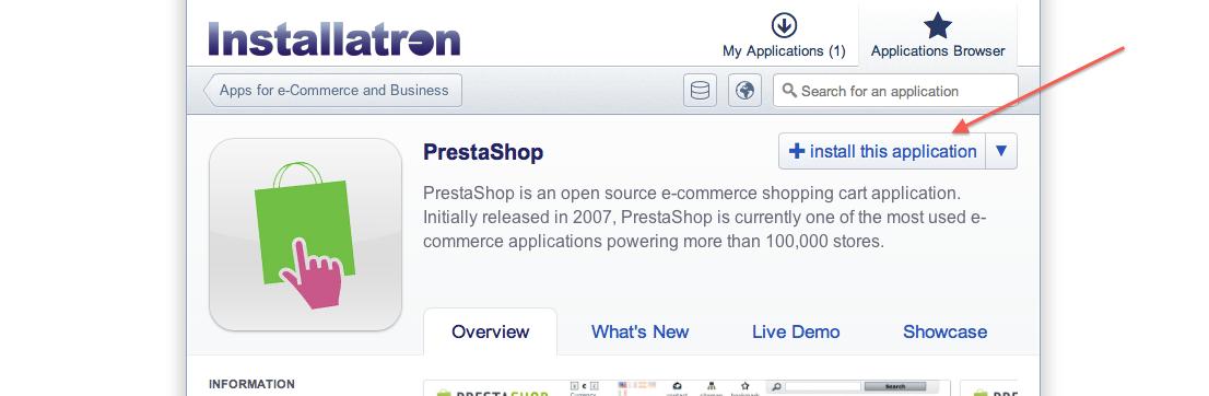 Installeer PrestaShop
