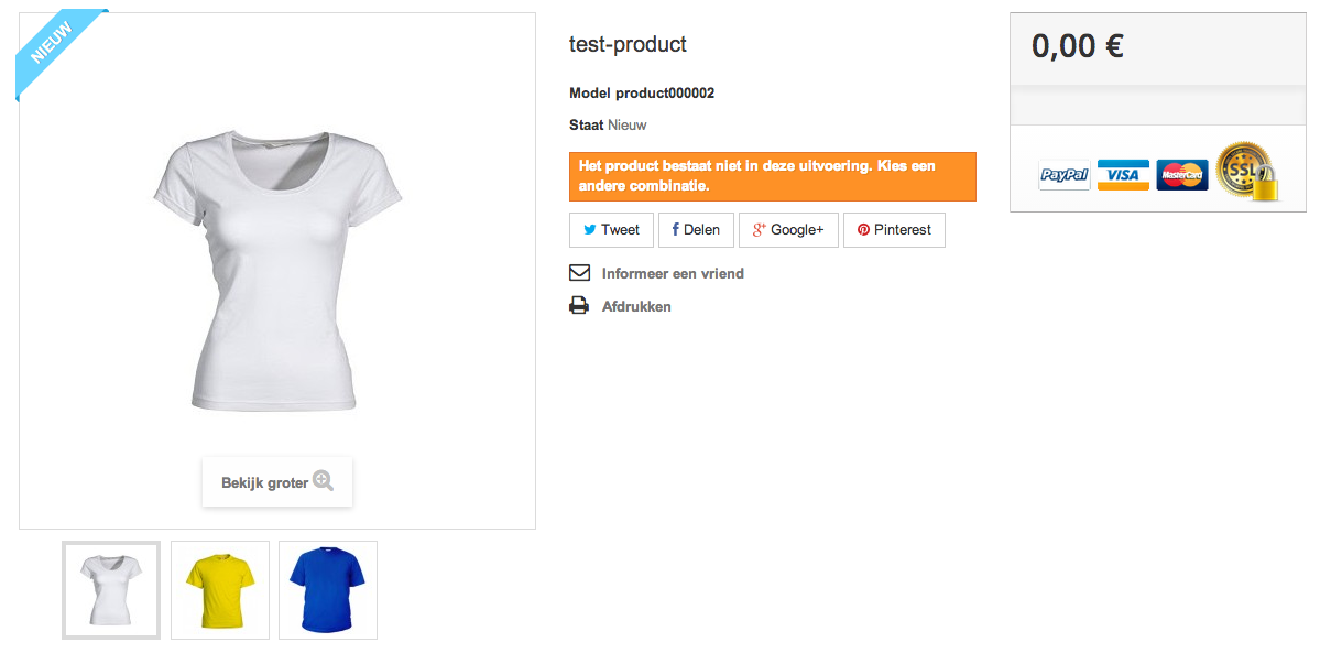 Product PrestaShop