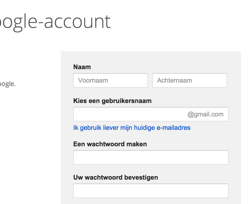 Google Analytics: account aanmaken