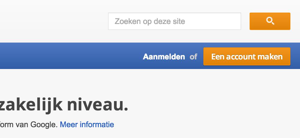 Google Analytics: aanmelden