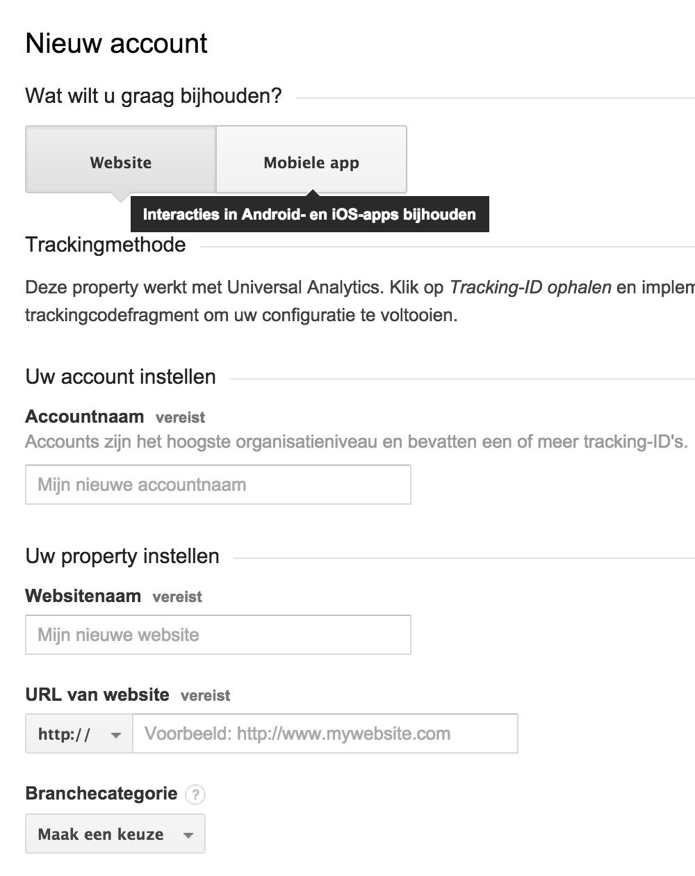 Google Analytics: instellen
