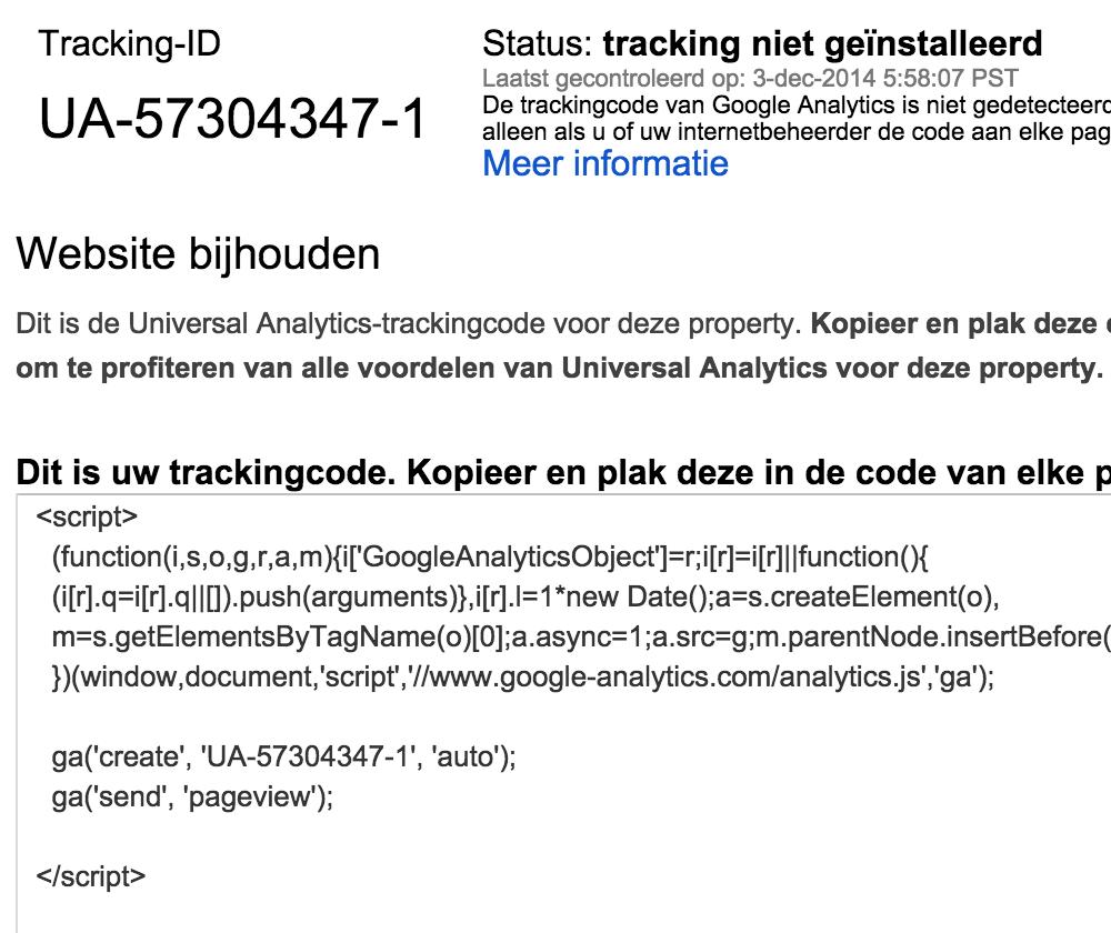 Google Analytics: trackingcode installeren
