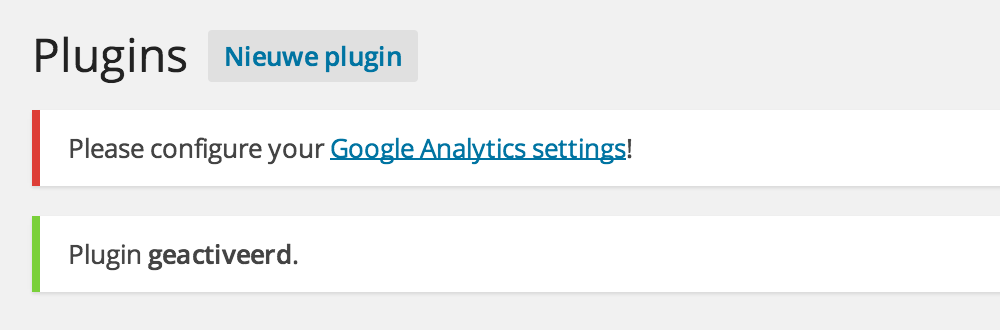 Google Analytics: configureren