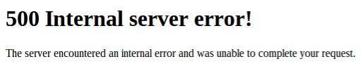 Website onbereikbaar: error 500!