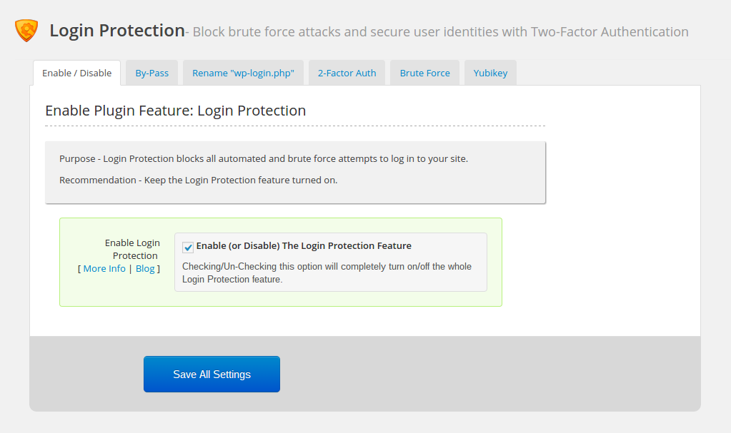 WordPress firewall: login protection