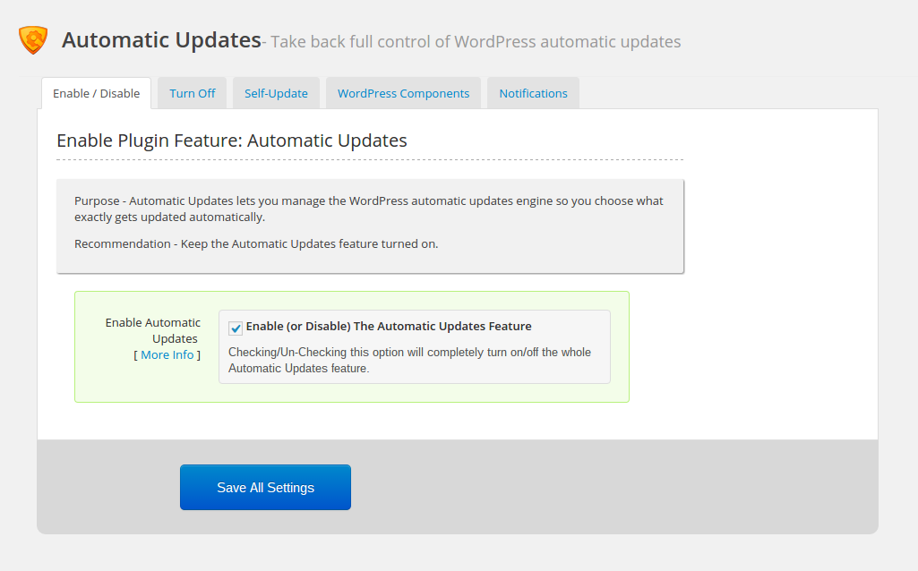 WordPress firewall: automatic updates