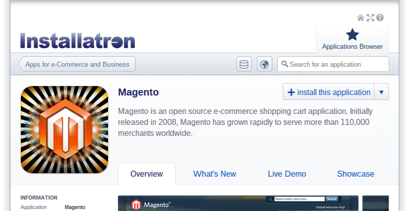 Magento bij Antagonist: install this application