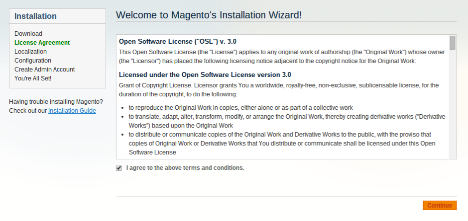 Magento bij Antagonist: license agreement
