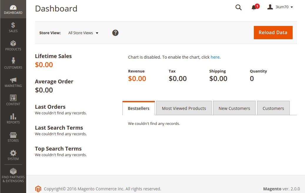 Aan de slag met Magento 2: het vernieuwde dashboard