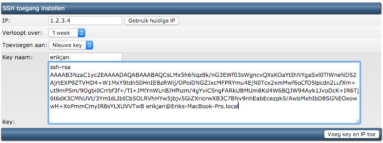 Introductie SSH: public key