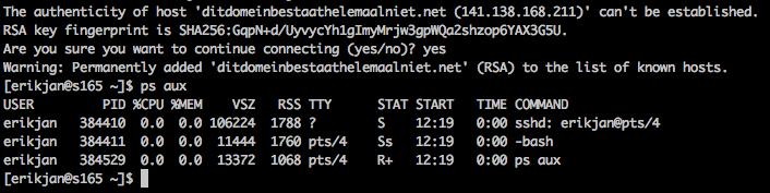 Introductie SSH: login