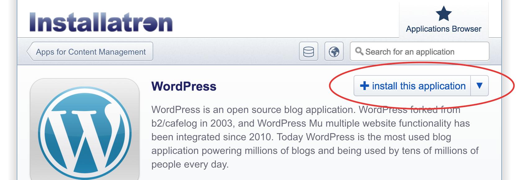 WordPress, het complete stappenplan: Installatron