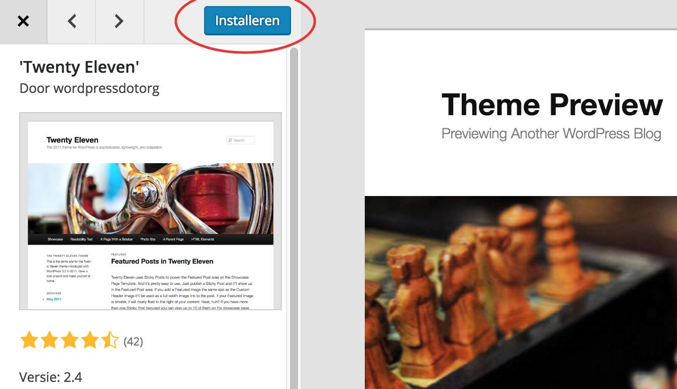 WordPress, het complete stappenplan: het installeren van een nieuw thema