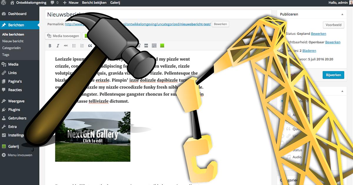 Bouw een eigen ontwikkelomgeving voor je website!